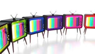 Colorful retro tv's