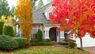 Toronto Residential Home during Fall Season