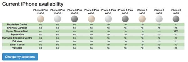 iPhone availability Toronto