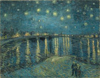 """фото: """"Звездная ночь над Роной"""" В. Ван Гог"""
