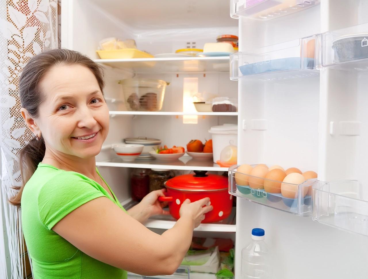 Fäst kompressorn i kylskåpet med gummikuddar.