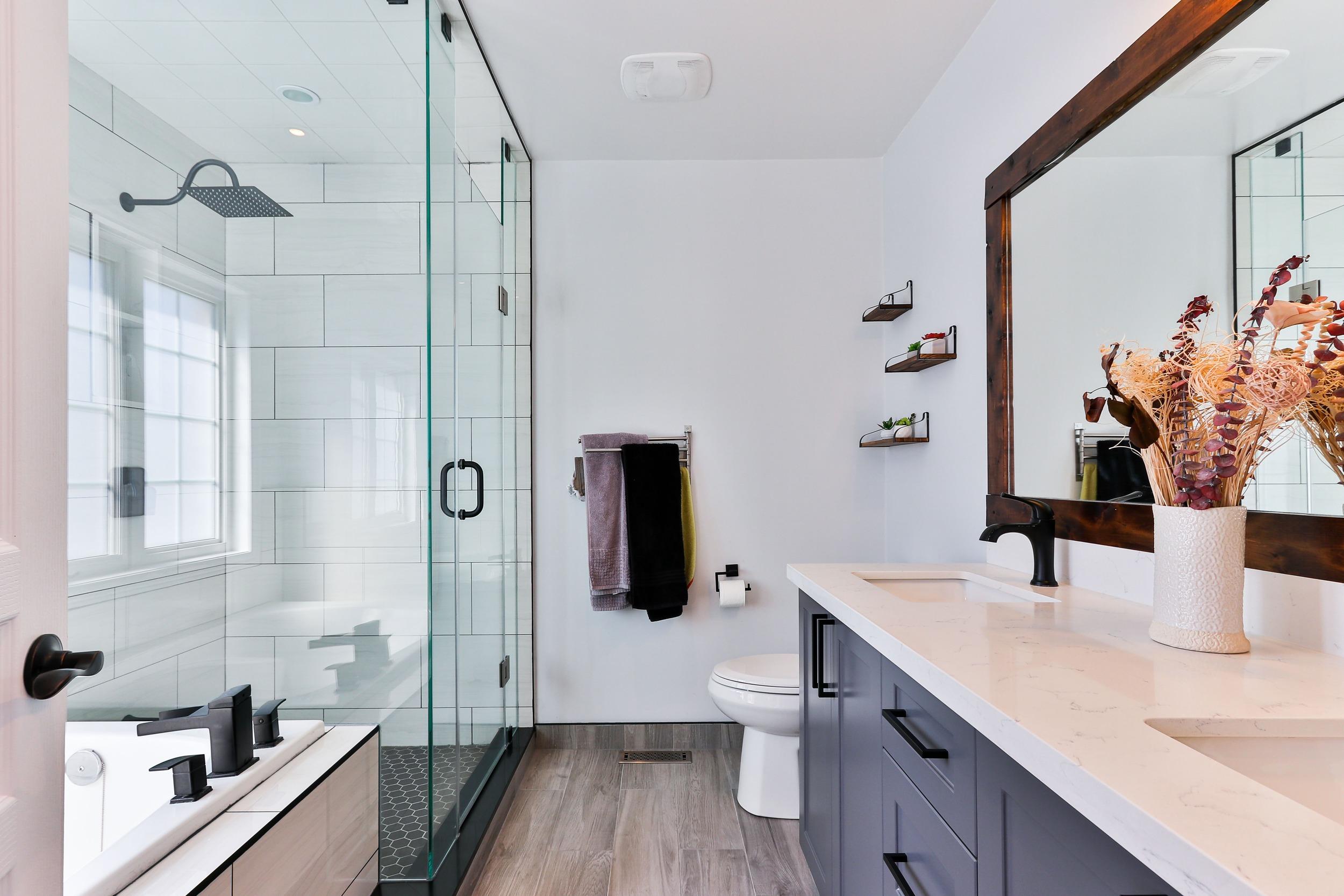 fashionable bright bathroom