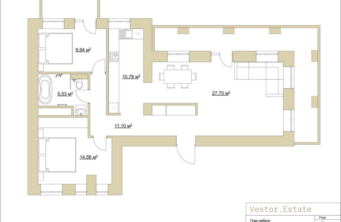 Pyrohova 2 apartment plan