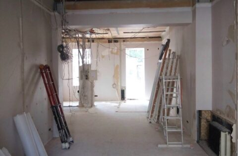 renovation process in apartment