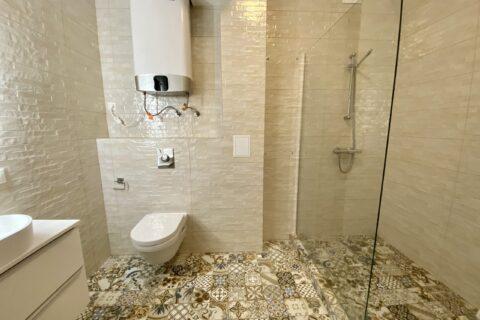 shower cabin in bathroom