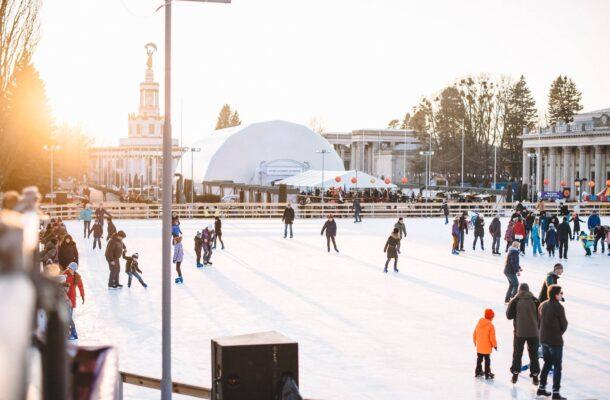 skating rink on VDNH