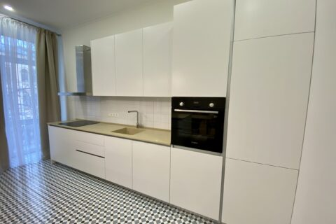 Kitchen with appliance