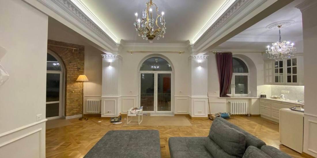 sofa and panoramic windows
