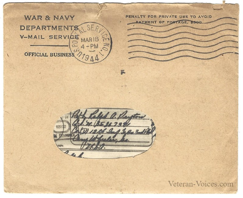 Victory Mail Envelope
