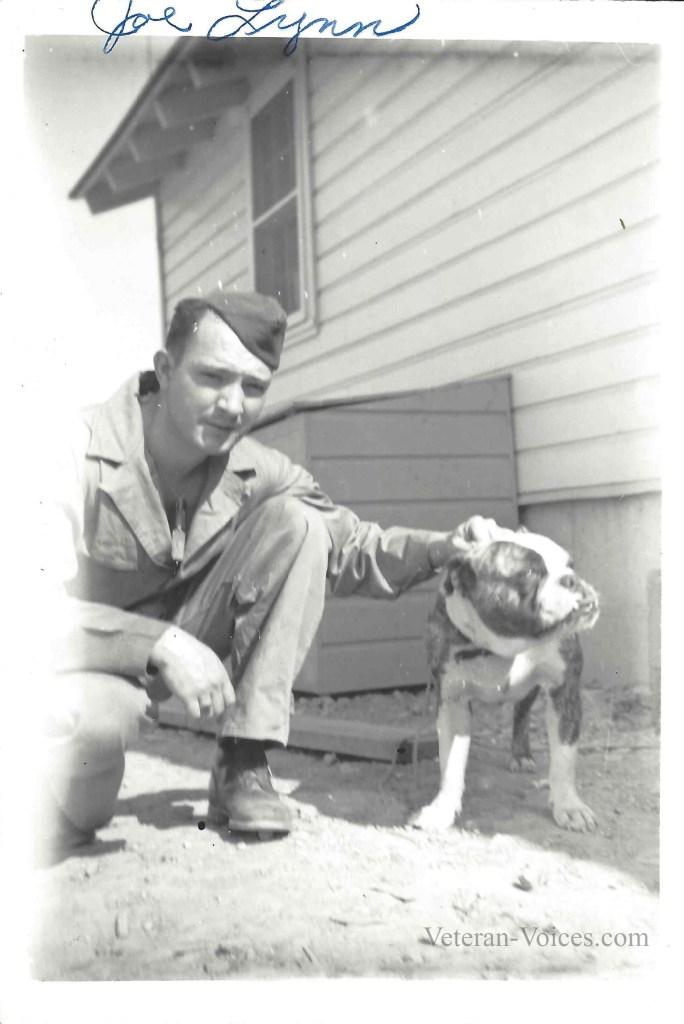 Ellery Joseph Lynn with his dog