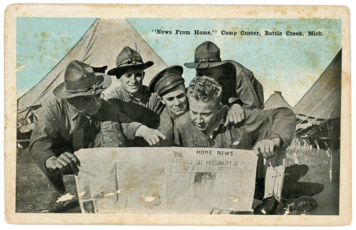"""News From Home,"" Camp Custer, Battle Creek, Michigan, World War I"