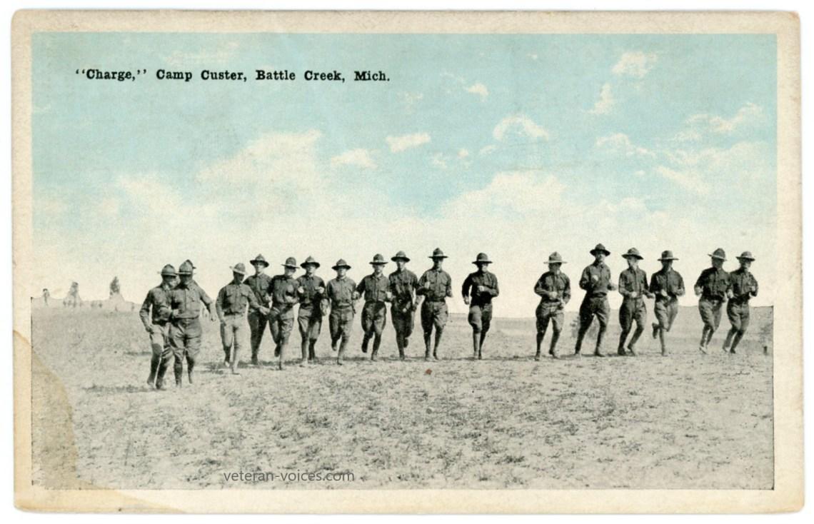 """Charge,"" Camp Custer, Battle Creek, Michigan, World War I"