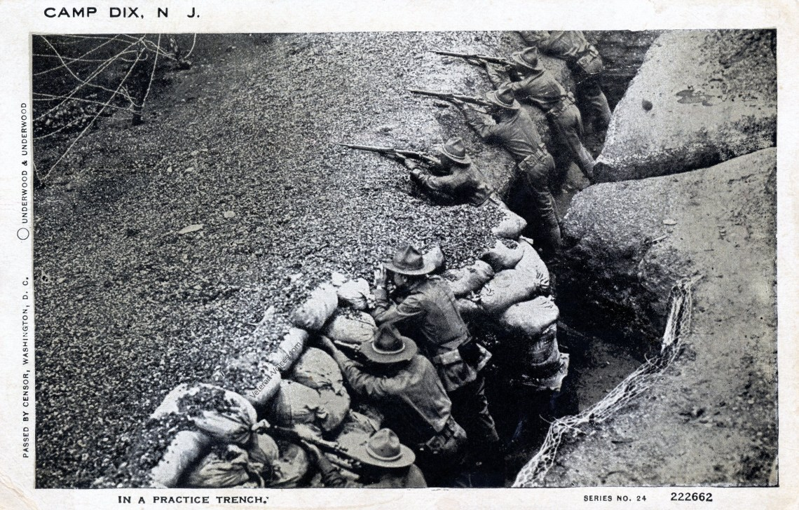 Soldiers in a Training Trench