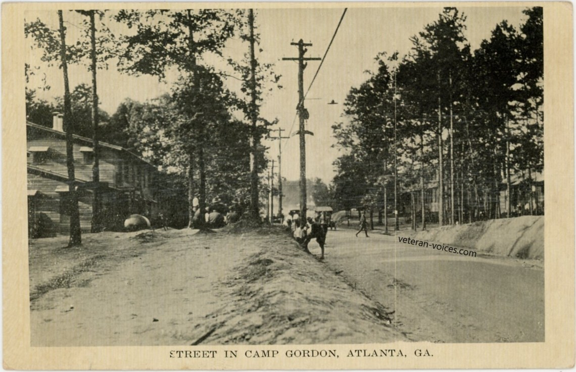 """Street in Camp Gordon, Atlanta, GA"" World War I"