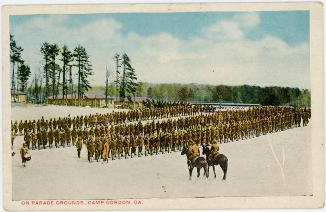 """""""Parade Grounds, Camp Gordon, Georgia"""" World War I"""