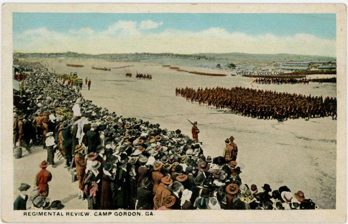 """Regimental Review, Camp Gordon, Georgia"" World War I"
