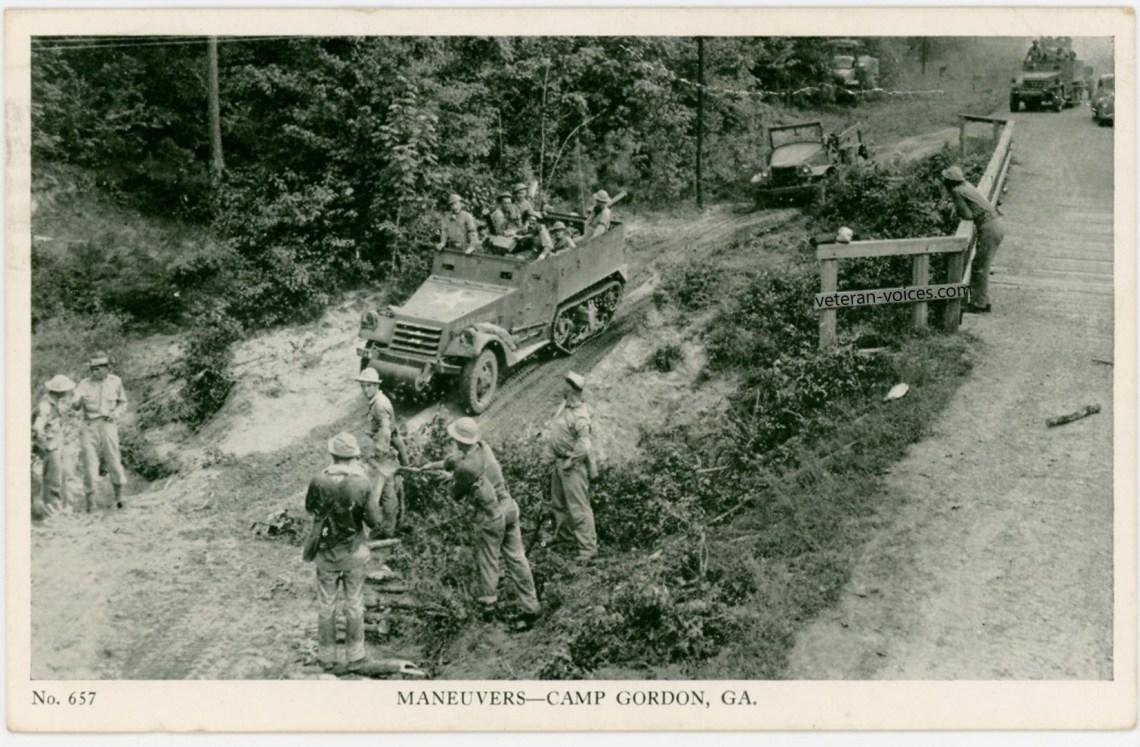 """Maneuvers - Camp Gordon, Georgia"" World War II"