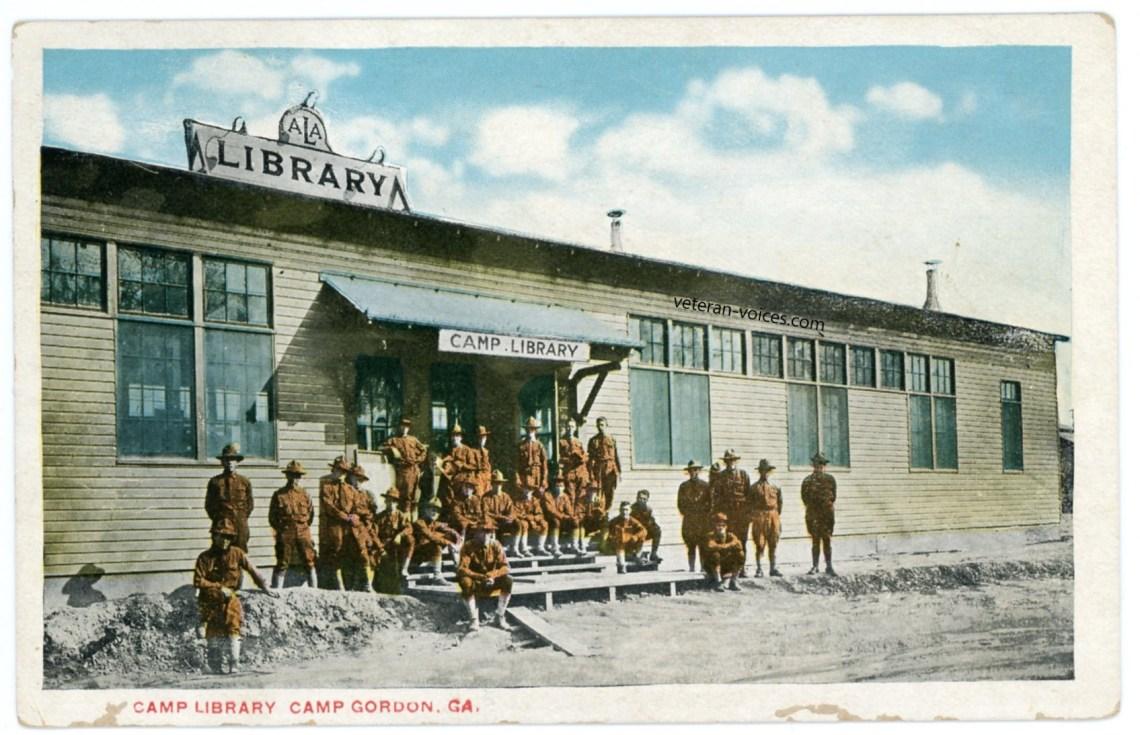 """Camp Library, Camp Gordon, Georgia"" World War I"