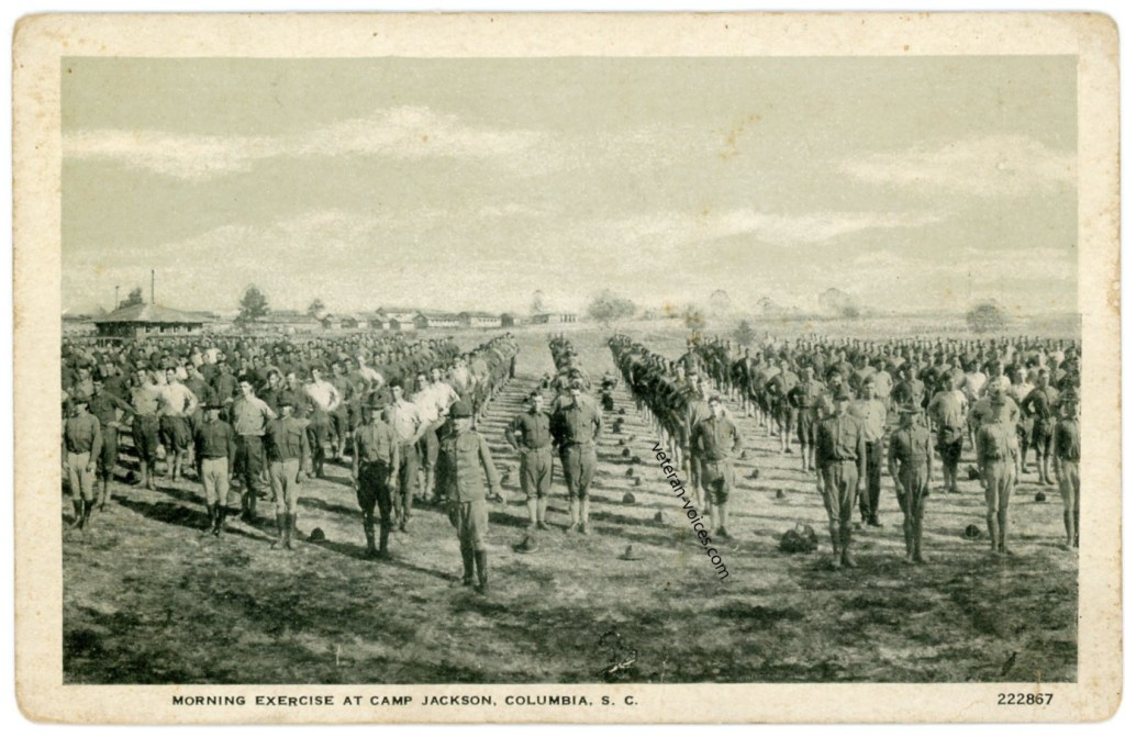 """Morning Exercise at Camp Jackson, Columbia, S.C."""