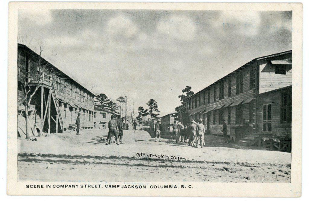 """Scene in Company Street, Camp Jackson, Columbia, S.C."""