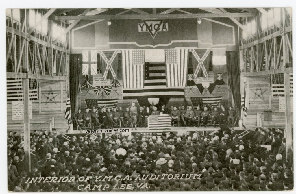 """Interior of the YMCA Auditorium, Camp Lee, VA"""