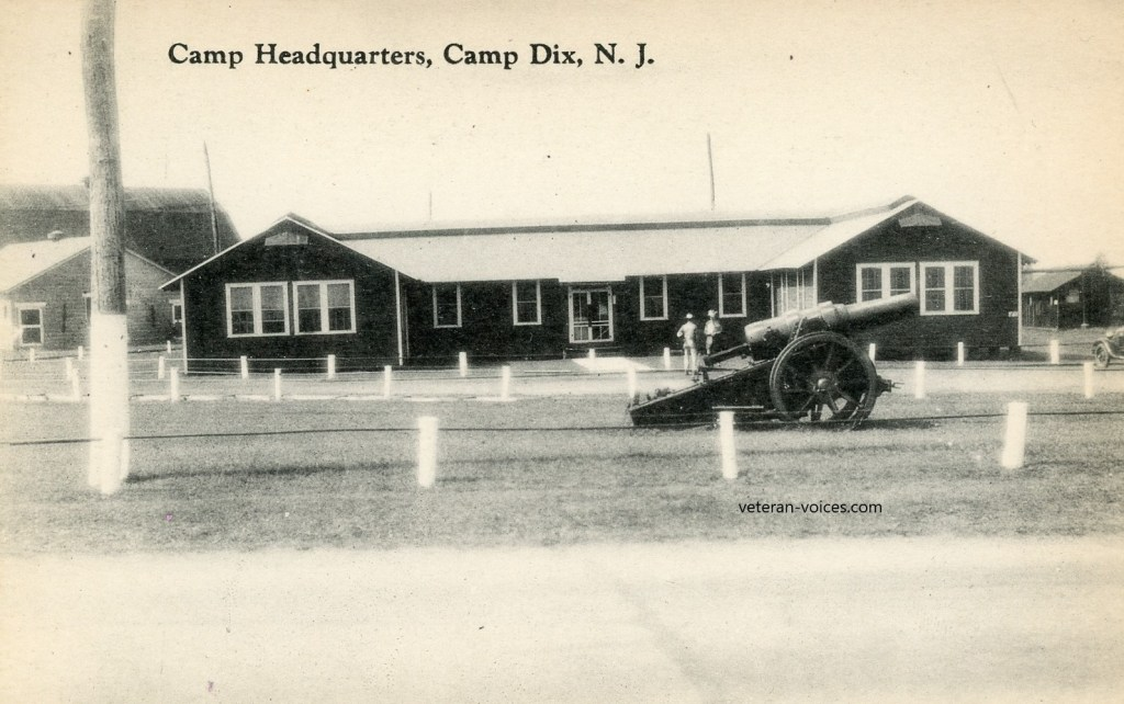 Camp Headquarters at Camp Dix, New Jersey