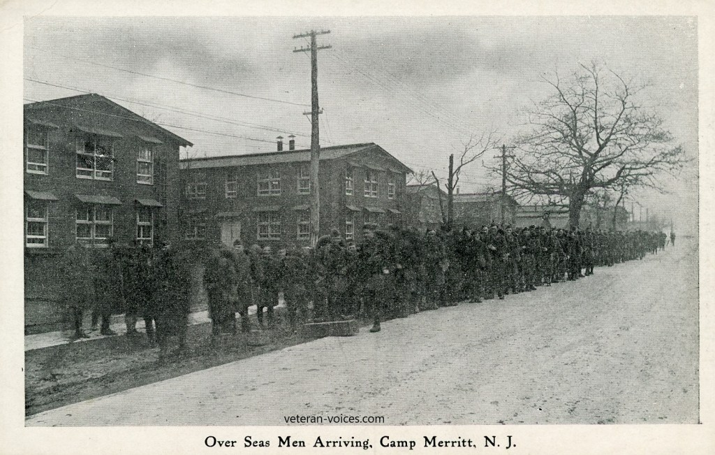 Overseas Men Arriving at Camp Merritt, N.J