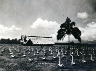 American Cemetery at Guadalcanal (Circa 1945)