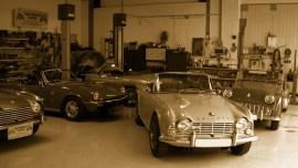 Vergasereinstellungen bei einem Triumph TR4