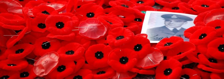 Poppies laid at the Canadian Tomb of the Unknown Soldier, Benoit Aubry, 2008