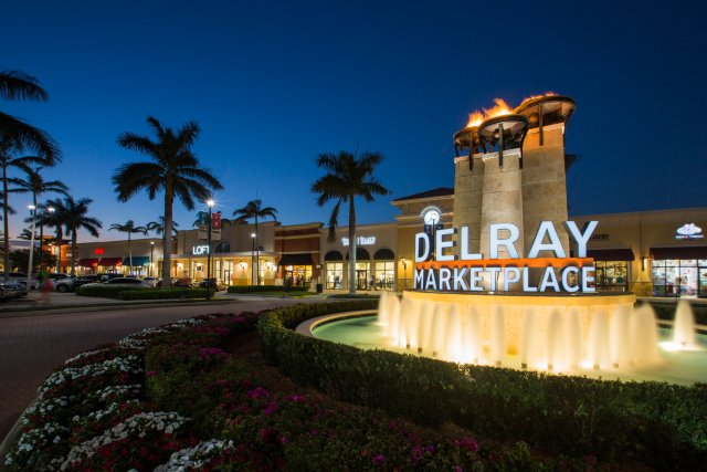The Delray Beach marketplace off 441 and Atlantic Ave.
