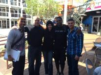 "With The Downtown Rangers, Christopher ""Sarge"" Curtis, Meredith Spriggs, Roman Burns and Veterans Village General Manager Ron Tadmor at Container Park, Downtown Las Vegas. Great meeting and thank you to The Downtown Rangers"