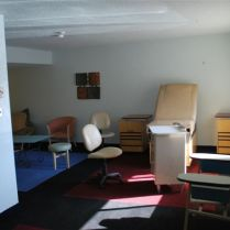 Screening room for visiting practitioners