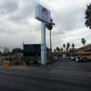 Enter Veterans Village from Las Vegas Blvd. So
