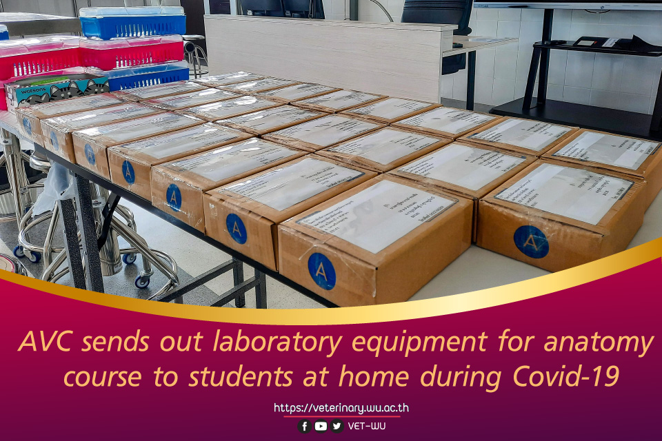 AVC sends out laboratory equipment for anatomy course to students at home during Covid-19