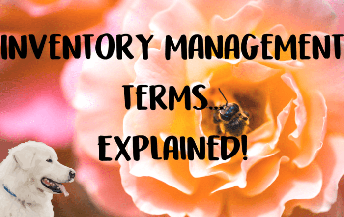veterinary inventory management terms
