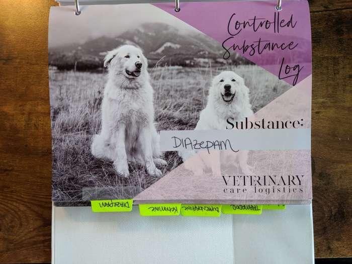 veterinary drug log