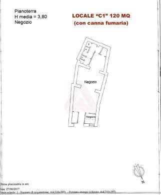 LOCALE COMMERCIALE C1 120 MQ