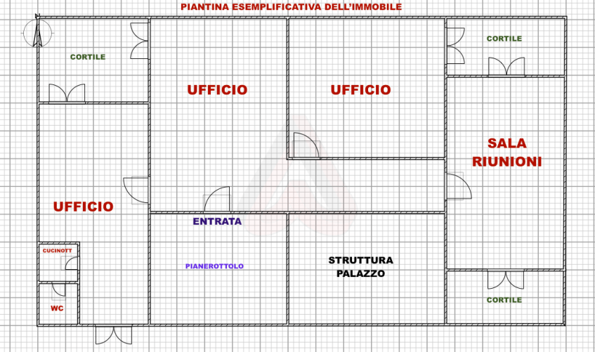 PIANTINA UFFICIO CENTRO ROMA VIA VENETO (AFFITTO)