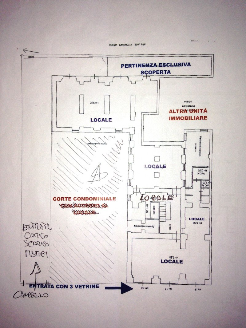 Planimetria Locale Zona Via XX Settembre Roma Affitto