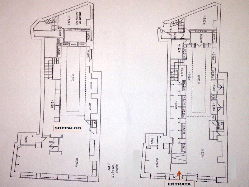 Planimetria Negozio Roma Centro