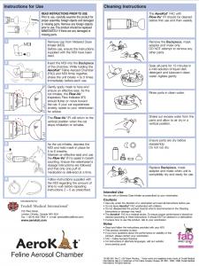 Cleaning AeroKat PDF Courtesy of Trudell Animal Health