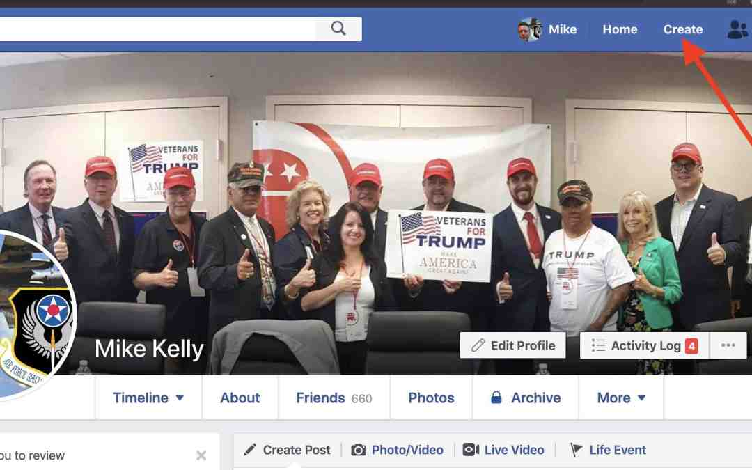 Create a local Vets for Trump Group or Page
