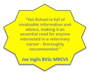 Vet School cover quote, Joe Inglis