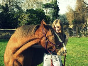 Phoebe Russell, with her horse, Lucky
