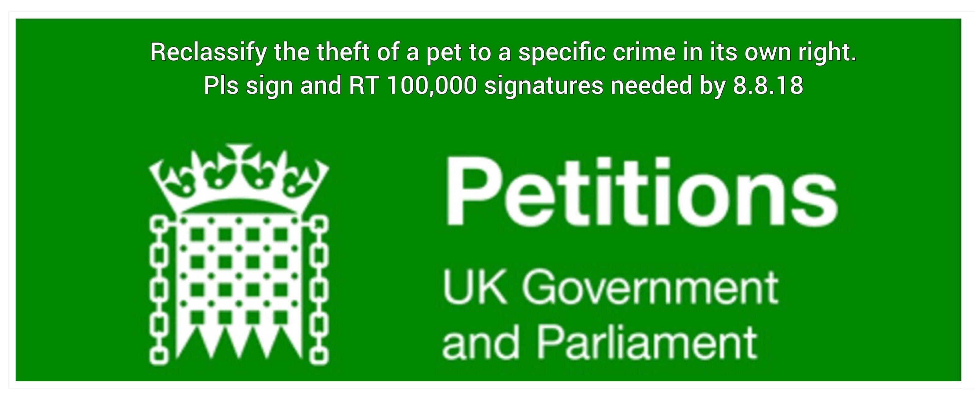 Please sign and support the #PetTheftPetition.
