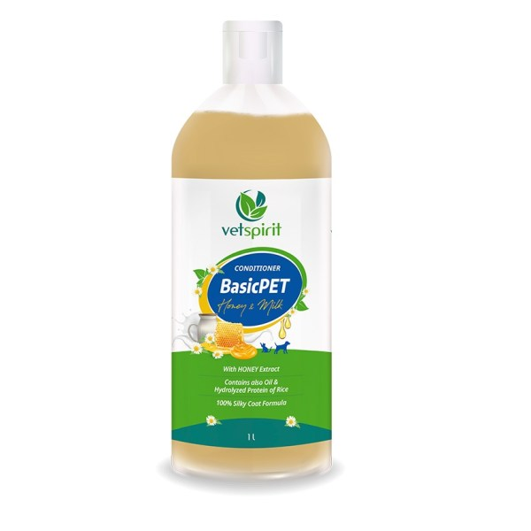 BasicPET Conditioner - Honey & Milk - 1000 ml 1