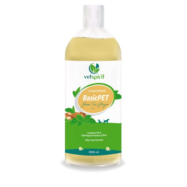 BasicPET Conditioner - Green Tea & Ginger - 1000 ml 1