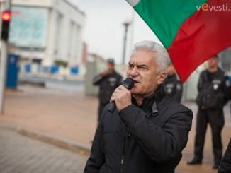 фотограф: Пламен Трифонов. Волен Сидеров протест пред МС