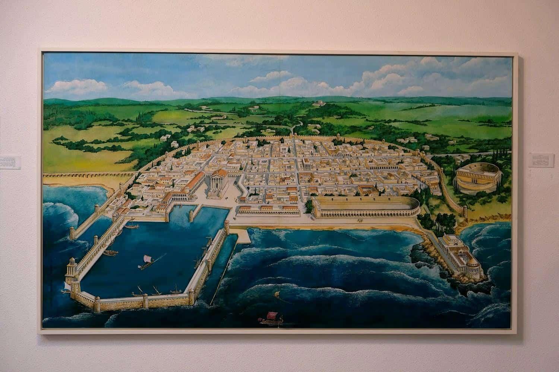 מוזיאון ראלי קיסריה - מפה נמל קיסריה